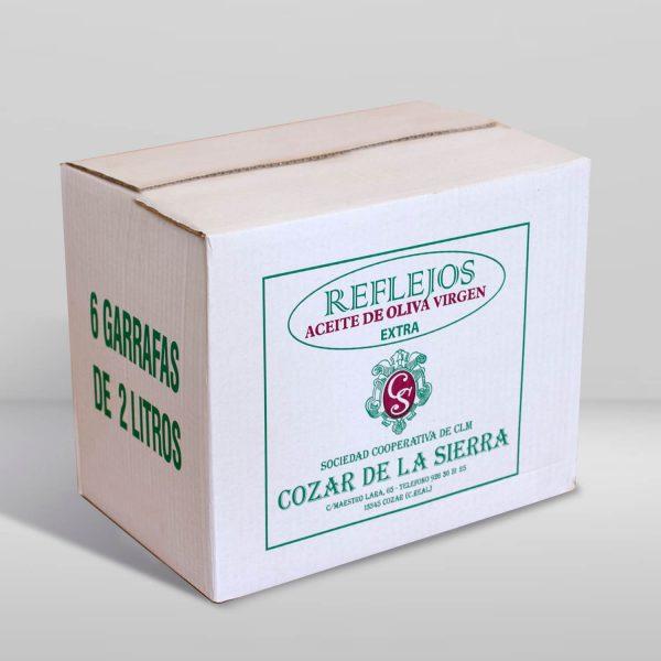 Aceite de oliva virgen extra Reflejos en garrafa de 2 litros