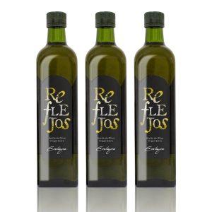 Aceite de oliva virgen extra Reflejos botella de 750 m