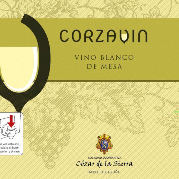 Vino blanco de mesa Corzavin