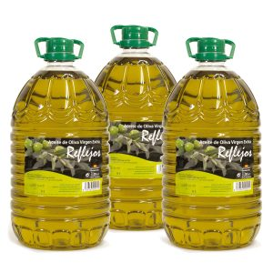 Aceite de oliva virgen extra Reflejos en garrafa de 5 litros