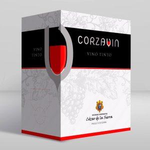 Vino tinto de mesa Corzavin